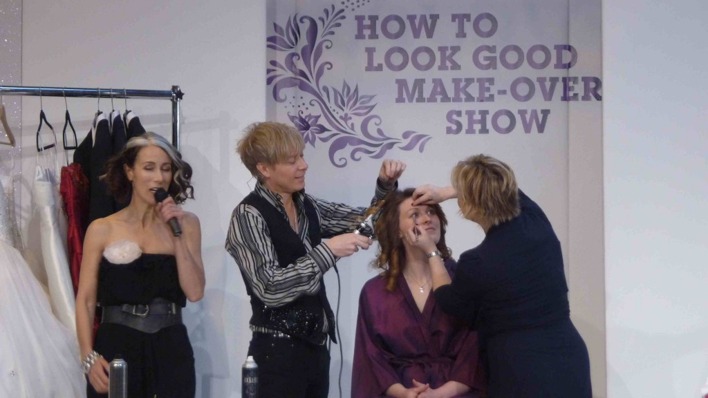 NWS Caryn on stage with Glam Squad